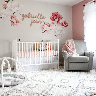 Pink & Gray Floral Nursery