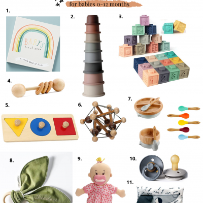 Babies 0-12 months Holiday Gift Guide
